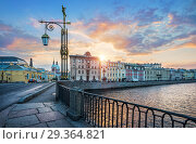 Купить «Рассвет над Фонтанкой dawn sun across the Fontanka river», фото № 29364821, снято 22 сентября 2018 г. (c) Baturina Yuliya / Фотобанк Лори