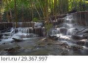 Huai Mae Khamin Waterfall, Thailand (2017 год). Стоковое фото, фотограф Михаил Коханчиков / Фотобанк Лори