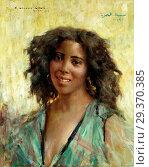 Gasté Constant Georges - Portrait of a Woman. Редакционное фото, фотограф Artepics / age Fotostock / Фотобанк Лори