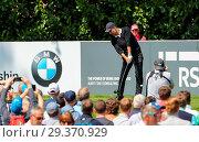 Купить «Sports stars and celebrities join professional golfers at the BMW PGA Championship pro-am at Wentworth Golf Club Featuring: Pep Guardiola Where: Wentworth...», фото № 29370929, снято 23 мая 2018 г. (c) age Fotostock / Фотобанк Лори