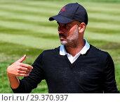 Купить «Sports stars and celebrities join professional golfers at the BMW PGA Championship pro-am at Wentworth Golf Club Featuring: Pep Guardiola Where: Wentworth...», фото № 29370937, снято 23 мая 2018 г. (c) age Fotostock / Фотобанк Лори