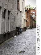 Купить «Amsterdam alley, Dutch city street, tourism in europe.», фото № 29374377, снято 6 сентября 2018 г. (c) easy Fotostock / Фотобанк Лори