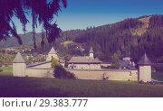 Купить «Orthodox monastic complex in Sucevita, Romania», фото № 29383777, снято 15 сентября 2017 г. (c) Яков Филимонов / Фотобанк Лори