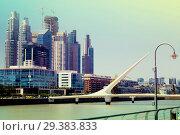 Купить «Business centers in riverfront area», фото № 29383833, снято 27 января 2017 г. (c) Яков Филимонов / Фотобанк Лори
