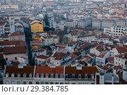 Купить «Lisbon from above. Portugal», фото № 29384785, снято 16 февраля 2018 г. (c) Liseykina / Фотобанк Лори