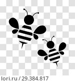Купить «Honey bee icon», иллюстрация № 29384817 (c) Сергей Лаврентьев / Фотобанк Лори