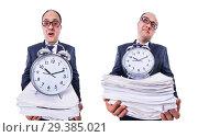 Купить «Man not meeting his deadlines», фото № 29385021, снято 18 марта 2013 г. (c) Elnur / Фотобанк Лори