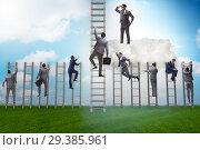 Купить «Concept of mentorship in business and career progression», фото № 29385961, снято 20 марта 2019 г. (c) Elnur / Фотобанк Лори