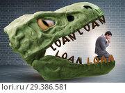 Купить «Businessman in the jaws of debt and loan», фото № 29386581, снято 15 декабря 2018 г. (c) Elnur / Фотобанк Лори