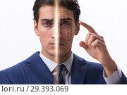 Купить «Concept of face recognition software and hardware», фото № 29393069, снято 23 февраля 2020 г. (c) Elnur / Фотобанк Лори