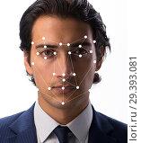 Купить «Concept of face recognition software and hardware», фото № 29393081, снято 12 ноября 2018 г. (c) Elnur / Фотобанк Лори
