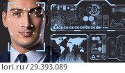 Купить «Concept of face recognition software and hardware», фото № 29393089, снято 13 ноября 2018 г. (c) Elnur / Фотобанк Лори