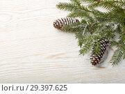 Купить «New Year and Christmas background», фото № 29397625, снято 4 ноября 2018 г. (c) Мельников Дмитрий / Фотобанк Лори
