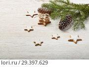 Купить «New Year and Christmas background», фото № 29397629, снято 4 ноября 2018 г. (c) Мельников Дмитрий / Фотобанк Лори
