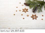 Купить «New Year and Christmas background», фото № 29397633, снято 4 ноября 2018 г. (c) Мельников Дмитрий / Фотобанк Лори