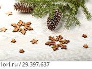 Купить «New Year and Christmas background», фото № 29397637, снято 4 ноября 2018 г. (c) Мельников Дмитрий / Фотобанк Лори