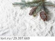 Купить «New Year and Christmas background», фото № 29397669, снято 4 ноября 2018 г. (c) Мельников Дмитрий / Фотобанк Лори