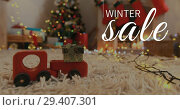 Купить «Digitally generated video of big winter sale 4k», видеоролик № 29407301, снято 15 декабря 2018 г. (c) Wavebreak Media / Фотобанк Лори