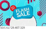 Купить «Digitally generated video of flash sale 4k», видеоролик № 29407329, снято 25 мая 2019 г. (c) Wavebreak Media / Фотобанк Лори
