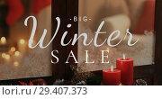 Купить «Big Winter Sale against Christmas decoration 4K 4k», видеоролик № 29407373, снято 5 апреля 2020 г. (c) Wavebreak Media / Фотобанк Лори