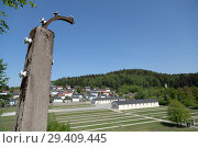 Купить «Bavaria, Germany - concentration camp memorial Flossenbuerg, overview from the height of the camp fence», фото № 29409445, снято 5 мая 2018 г. (c) Caro Photoagency / Фотобанк Лори