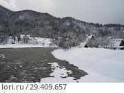 Купить «Shirakawa-go, Japan, winter landscape with Gassho-zukuri farmhouses», фото № 29409657, снято 28 декабря 2017 г. (c) Caro Photoagency / Фотобанк Лори