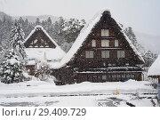 Купить «Shirakawa-go, Japan, Traditional Gassho-zukuri Farmhouses», фото № 29409729, снято 28 декабря 2017 г. (c) Caro Photoagency / Фотобанк Лори