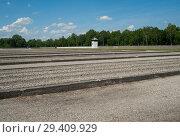 Купить «Dachau, Germany, Former shanty town in the Dachau concentration camp memorial site », фото № 29409929, снято 3 июня 2017 г. (c) Caro Photoagency / Фотобанк Лори