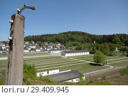 Купить «Bavaria, Germany - concentration camp memorial Flossenbuerg, overview from the height of the camp fence», фото № 29409945, снято 5 мая 2018 г. (c) Caro Photoagency / Фотобанк Лори