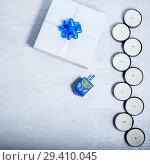 Купить «Background of Jewish holiday Hanukkah. The Religious symbols», фото № 29410045, снято 10 ноября 2018 г. (c) Константин Сенявский / Фотобанк Лори