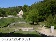 "Купить «""Bavaria, Germany - concentration camp memorial Flossenbuerg, """"Valley of Death"""" with the pyramid of ashes""», фото № 29410381, снято 5 мая 2018 г. (c) Caro Photoagency / Фотобанк Лори"