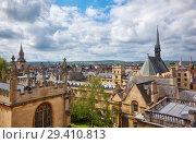Купить «Exeter College and Bodleian Library as seen from the cupola of Sheldonian Theatre. Oxford. England», фото № 29410813, снято 15 мая 2009 г. (c) Serg Zastavkin / Фотобанк Лори