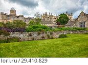 Купить «The Christ Church as seen from the Memorial Gardens. Oxford University. England», фото № 29410829, снято 15 мая 2009 г. (c) Serg Zastavkin / Фотобанк Лори