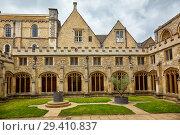 Купить «The Cloister Garden of Christ Church Cathedral. Oxford University. England», фото № 29410837, снято 15 мая 2009 г. (c) Serg Zastavkin / Фотобанк Лори