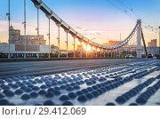 Купить «Вид на Москву с Крымского моста. View of Moscow from the Crimean bridge», фото № 29412069, снято 9 октября 2018 г. (c) Baturina Yuliya / Фотобанк Лори