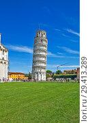 Купить «Пизанская башня. Пиза. Италия», фото № 29413289, снято 12 сентября 2018 г. (c) Сергей Афанасьев / Фотобанк Лори