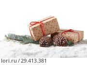 Купить «New Year and Christmas background», фото № 29413381, снято 5 ноября 2018 г. (c) Мельников Дмитрий / Фотобанк Лори