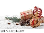 Купить «New Year and Christmas background», фото № 29413389, снято 5 ноября 2018 г. (c) Мельников Дмитрий / Фотобанк Лори
