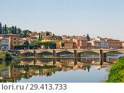 Купить «Ponte San Niccolo (мост Святого Николая) через Арно. Флоренция. Италия», фото № 29413733, снято 14 сентября 2018 г. (c) Сергей Афанасьев / Фотобанк Лори
