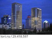 Купить «Kazakhstan, Astana, The Ritz-Carlton Hotel,.», фото № 29418597, снято 8 сентября 2018 г. (c) age Fotostock / Фотобанк Лори
