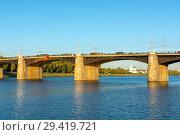 Купить «Тверь, Нововолжский мост», эксклюзивное фото № 29419721, снято 19 сентября 2018 г. (c) Alexei Tavix / Фотобанк Лори