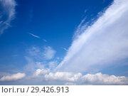 Купить «Perfect blue sky with clouds in sunny day.», фото № 29426913, снято 13 сентября 2016 г. (c) easy Fotostock / Фотобанк Лори