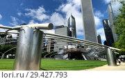 Купить «Panorama of Jay Pritzker Pavilion at day time», видеоролик № 29427793, снято 16 сентября 2018 г. (c) Антон Гвоздиков / Фотобанк Лори