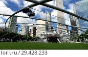 Купить «Panorama of Jay Pritzker Pavilion at day time», видеоролик № 29428233, снято 16 сентября 2018 г. (c) Антон Гвоздиков / Фотобанк Лори