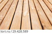 Купить «Natural new wooden floor. Background», фото № 29428589, снято 30 октября 2018 г. (c) EugeneSergeev / Фотобанк Лори