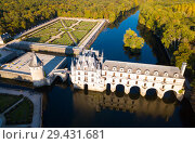 Купить «Aerial view of Chateau de Chenonceau», фото № 29431681, снято 8 октября 2018 г. (c) Яков Филимонов / Фотобанк Лори