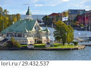 Купить «NJK, oldest registered yacht club in Finland on Blekholmen island. Хельсинки, Финляндия», фото № 29432537, снято 24 сентября 2018 г. (c) Валерия Попова / Фотобанк Лори
