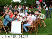 Купить «The cast of 'The Only Way Is Essex' filming a garden party scene at Colchester Castle Featuring: TOWIE cast, Tommy Mallet, Liam Gatsby Where: Essex, United Kingdom When: 10 May 2018 Credit: WENN.com», фото № 29434249, снято 10 мая 2018 г. (c) age Fotostock / Фотобанк Лори