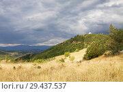 Купить «Живописный пейзаж в Сербии возле монастыря Джурджеви-Ступови», фото № 29437537, снято 27 августа 2012 г. (c) Солодовникова Елена / Фотобанк Лори