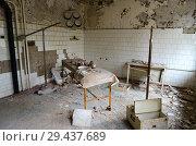 МСЧ №126, покинутый город-призрак Припять в зоне отчуждения Чернобыльской АЭС, Украина (2018 год). Стоковое фото, фотограф Ольга Коцюба / Фотобанк Лори